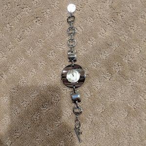 Silver DKNY watch, dangly